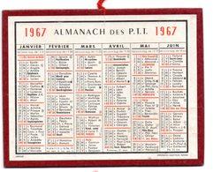 Calendrier Cartonné Almanach Des PTT 1967. - Calendriers