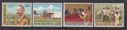 1983 Mauritius Von Plevitz Social Reformer, Portrait, Field Workers, Schoolroom,  Set Of 4  MNH - Maurice (1968-...)