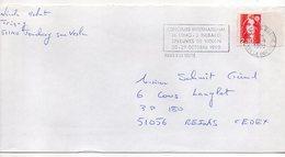 1990--lettre De PARIS 8 LA BOETIE Pour REIMS-51- Flamme Concours International De Violon--type Marianne Bicentenaire - Marcophilie (Lettres)