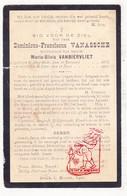 DP Dominicus F. Van Assche ° Moorslede 1833 † Ieper 1911 X M. Van Biervliet - Images Religieuses