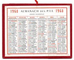 Calendrier Cartonné Almanach Des PTT 1968. - Calendars