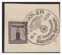 Dt-Reich (007269) Sonderstempel Auf Briefstück, Hannover, NSKK 16.Internationales Eilenriede Rennen, Gestempelt Am 16.4. - Deutschland