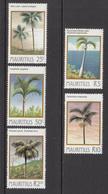 1984 Mauritius Palm Trees Set Of  5 MNH - Mauritius (1968-...)