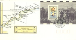 AUSTRALIA  - FDC - 25.9.1991 - EXPLORATION ALBANY W.A. VANCOUVER - Yv BLOC 18 - Lot 18660 - Premiers Jours (FDC)