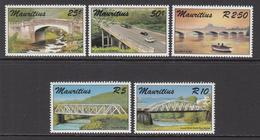 1987 Mauritius Bridges Set Of 5  MNH - Mauritius (1968-...)