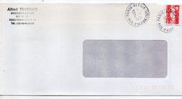 1991--cachet Rond  PARIS ALESIA Sur Enveloppe Rectangle Personnalisée ( à Fenêtre ) --type Marianne Bicentenaire - Marcophilie (Lettres)