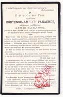 DP Hortense Amelie Van Aerde ° Ieper 1933 † 1903 X Louis Baratto - Images Religieuses