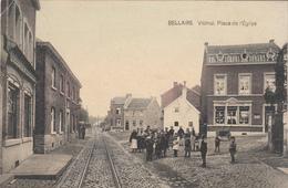 Bellaire - Vicinal. Place De L'Eglise (top Animation, Colorisée, Magasin De L'Union Coopérative, Edit. Vandenen) - Beyne-Heusay