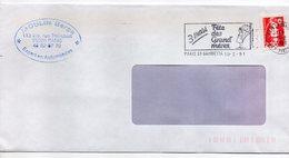 1991-cachet PARIS 20 GAMBETTA-Fête Grand'mères Sur Enveloppe Rectangle Personnalisée ( à Fenêtre ) Marianne Bicentenaire - Marcophilie (Lettres)