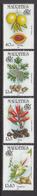 1995 Mauritius Spices Nutmeg, Coriander, Cloves, Cardamon Set Of 4  MNH - Mauritius (1968-...)
