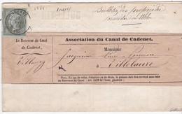 N°19 Sur Bulletin Et Bande Complète - OBL. CàD GADENET / 24 JUIL 66 - Marcophilie (Lettres)