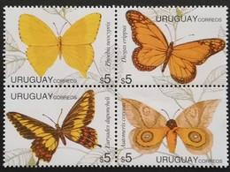 Uruguay  1995 Butterflies - Uruguay