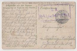 4375 Feldpost Germany   Kriegergraber Im Walde Bei Neu Thiaville Military Cemetery - Weltkrieg 1914-18