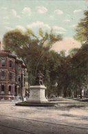 CPA-LONGFELLOW MONUMENT AND STATE ST . PORTLAND, ME- MAINE-1910-2scans - Portland