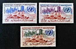 ADMISSION AUX NATIONS-UNIES 1962 - NEUFS */O - YT 156/58 - MI 191/93 - Mauritania (1960-...)