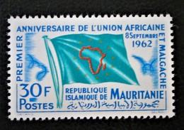 UNION AFRICAINE ET MALGACHE 1962 - NEUF ** - YT 159 - MI 194 - Mauritania (1960-...)