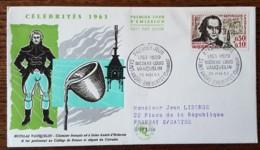 FDC 1963 - YT N°1373 - NICOLAS LOUIS VAUQUELIN - SAINT ANDRE D'HEBERTOT - FDC