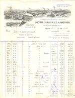 FACTURE 1917 DAVID MAIGRET & DONON 29 RUE DU SENTIER PARIS - USINES ÉPINAL St QUENTIN TARARE NÉRONDE - Vestiario & Tessile