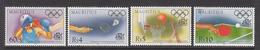 1996 Mauritius Centenary Of Olympics Games Boxing, Badminton, Basketball, Table Tennis Set Of 4  MNH - Mauritius (1968-...)