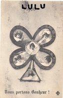 FEMMES 661 : 1906 Nous Portons Bonheur Trèfle Multivues A L Effigie De Son éditeur C C C C - Femmes