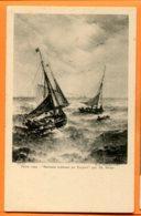 LIP431, Salon 1904, Bateaux Rentrant Au Tréport Par Th. Weber, Précurseur, Non Circulée - Segelboote