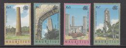 1999 Mauritius Old Sugar Mill Chimneys Set Of 4  MNH - Mauritius (1968-...)