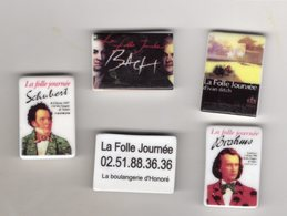 RARE Série 4 Fèves PERSO Brillantes LA FOLLE JOURNEE Boulangerie D'HONORE-REZE Nantes - Regions