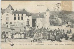 Puy De Dome : Combronde, Marché Déat, Foirail Aux Bestiaux, Carte Pas Courante - Combronde