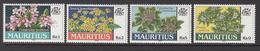 1999 Mauritius Native Flowers Set Of 4  MNH - Mauritius (1968-...)