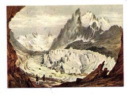 Carte Gravure Mer De Glace  Cachet Chamonix Sur Vlaminck Delaunay - Arts