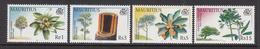 2001 Mauritius Native Trees Set Of 4  MNH - Mauritius (1968-...)