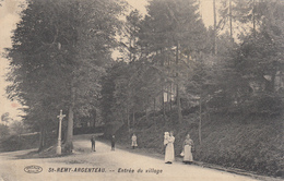 St Remy Argenteau - Entrée Du Village (animée, Préaux-Ghlin, Edit. Ve Moron-Mélis, 1921) - Blegny