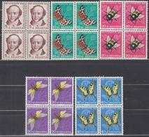 SCHWEIZ 602-606, 4erBlock, Ungebraucht *, Pro Juventute 1954, Insekten - Pro Juventute