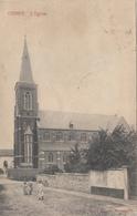 Othée - L'Eglise (animée, Edit Henri Kaquet, Censure Militaire 1917, Pour Vicaire à Ougrée) - Awans