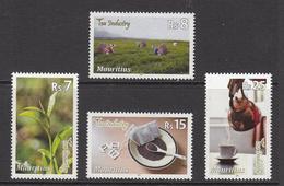 2011 Mauritius Tea Industry Pickers, Pot & Cup, Loose Tea Set Of 4  MNH - Mauritius (1968-...)