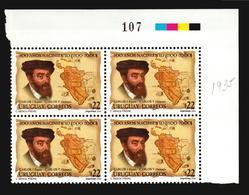 HOLY ROMAN EMPEROR CHARLES V SPAIN GERMANY MAP AMERICA URUGUAY MNH BLOCK OF 4 ** CATALOGUE VALUE $24 - Familles Royales