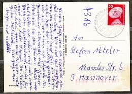 BRD, MiNr. 851; EF Auf Portoger. Karte Von Wangerland Nach Hannover; B-97 - BRD