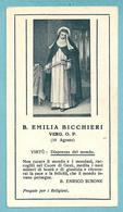 B. EMILIA BICCHIERI Verg. O.P.  - E - PR - BR - Mm. 62 X 113 (circa) - Religione & Esoterismo