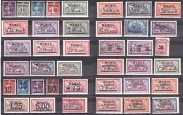 Memel - Administration Française + Occupation Lituanienne - Des Séries Complètes - Timbres Neufs * - Cote + 110 - Timbres