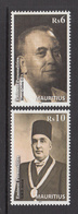 2012 Mauritius Famous Men Musician & Newspaper Publisher Set Of 2  MNH - Mauritius (1968-...)