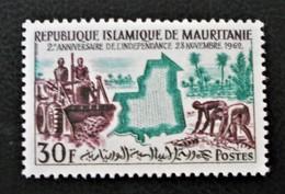 2 EME ANNIVERSAIREDE L'INDEPENDANCE 1962 - NEUF * - YT 162 - MI 198 - Mauritania (1960-...)