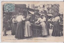 CP - PARIS VECU - LE MARCHE DANS LA RUE - Petits Métiers à Paris