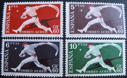 R1703/673 - 1960 - ESPAGNE - POSTE AERIENNE - SERIE COMPLETE - N°282 à 285 NEUFS** - Cote : 28,00 € - Airmail