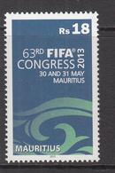2013 Mauritius FIFA (soccer Association) Conference Set Of 1  MNH - Mauritius (1968-...)