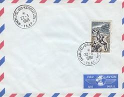 TAAF. N°28. DAMIER DU CAP. SUR ENVELOPPE  ARCHIPEL DES KERGUELEN T.A.A.F. 22-3-1969  /  4278 - Terres Australes Et Antarctiques Françaises (TAAF)