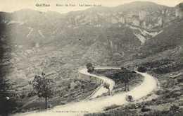 QUILLAN  Route De Foix Les Lacets Du Col Voiture Collection Jean Francois Quillan  RV - France