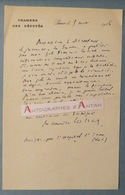 L.A.S 1926 Maurice COLRAT De MONTROZIER - Homme Politique Né à Sarrazac LOT- Chambre Des Députés Seine Et Oise Lettre - Autographs