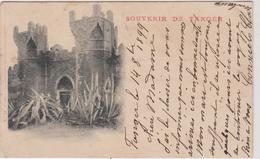Maroc Tanger   Carte  Precurseur Cachet Affranchissement  1899  Souvenir - Tanger