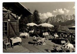 B9670 POCOL CORTINA - RISTORANTE BELVEDERE B\N VG 1957 TARGHETTA SUL RETRO - Italia