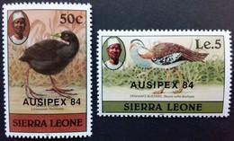 Sierra Leone1984** Mi.764-65. Birds MNH [21;35] - Oiseaux